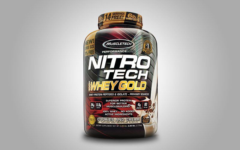 MuscleTech NitroTech Whey_Gold 100 Whey Protein Powder