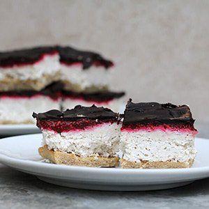 Keto Snacks Sweet Coconut Raspberry Slice