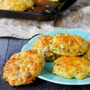 Savory Keto Breakfast Cookie Snack
